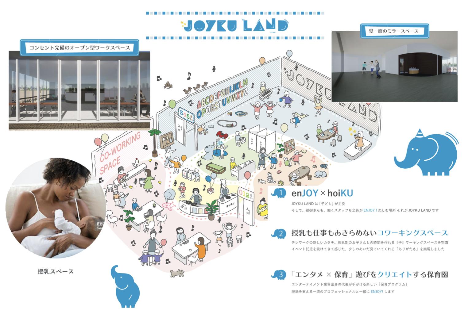 2021年8月開園予定!遊びをクリエイトする保育園「JOYKU LAND(ジョイク ランド)」<br> 新規開園に伴い、オープニングキャストを募集します!!